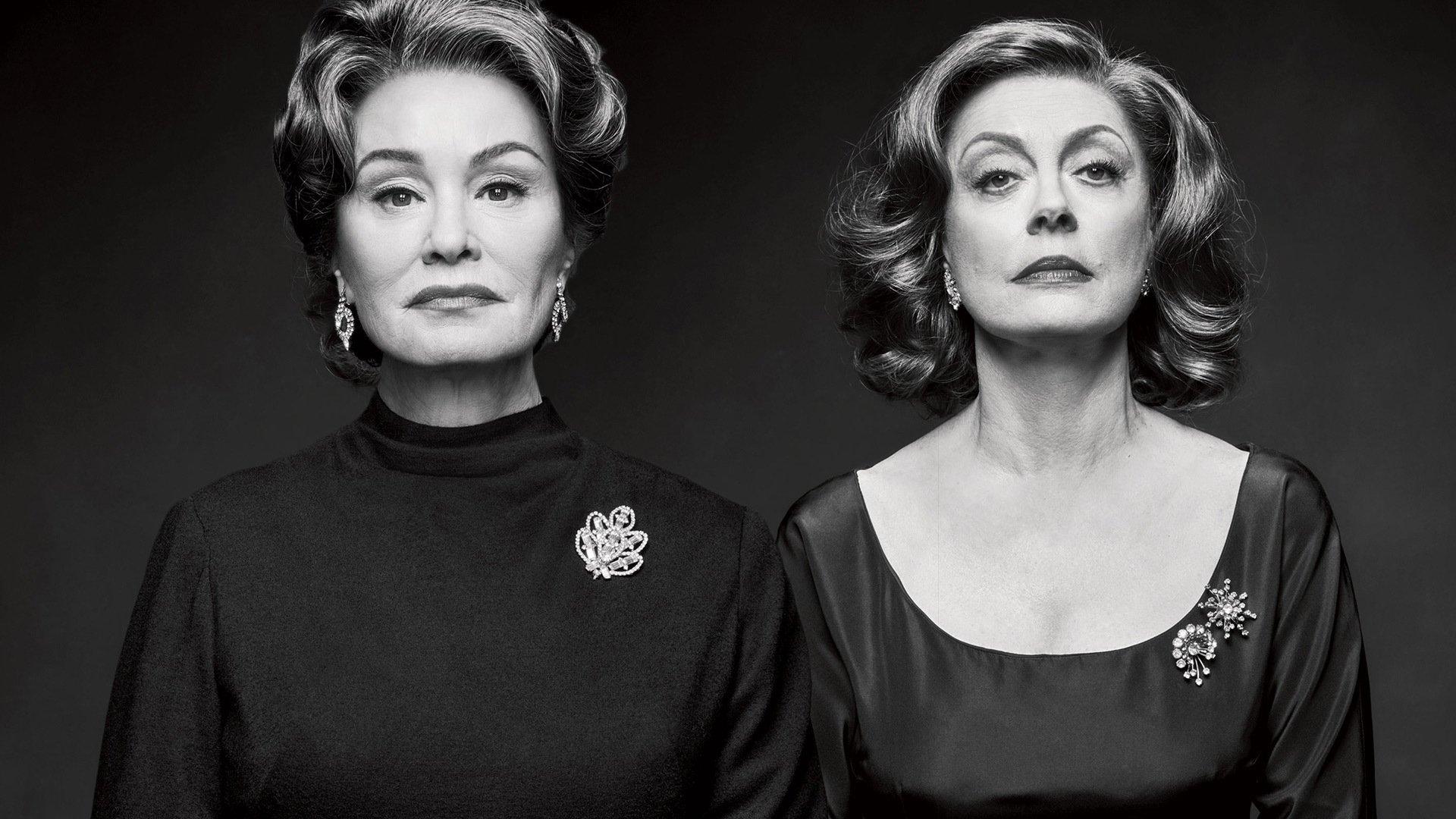 Jessica Lange e Susan Sarandon são, respectivamente, Joan Crawford e Bette Davis