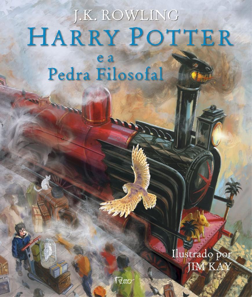 """Capa da edição ilustrada de """"Harry Potter e a Pedra Filosofal"""", cuja ilustrações são assinadas pelo artista Jim Kay"""