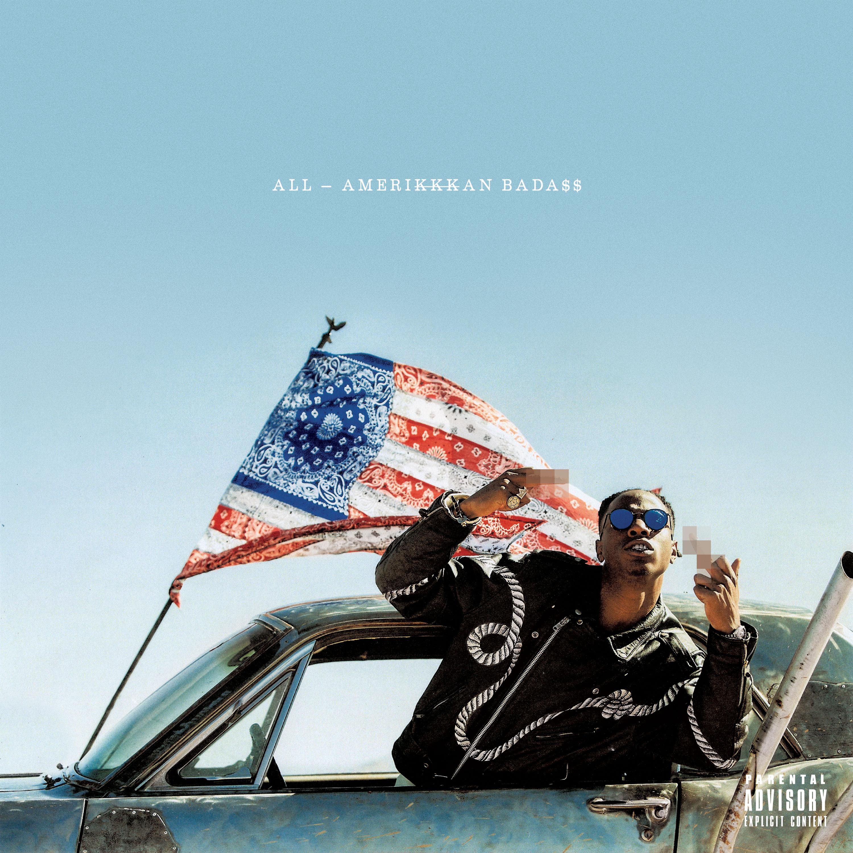 "Capa do álbum ""All Amerikkkan Bada$$"""