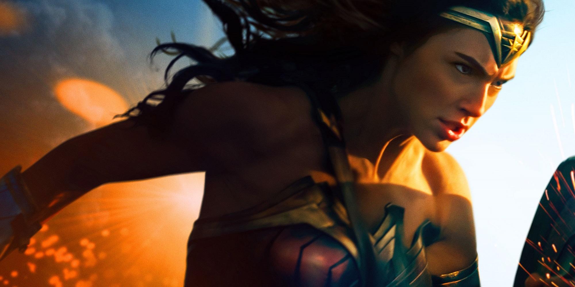 """Banner promocional para """"Mulher-Maravilha"""", o filme solo da personagem lançado em 2017"""