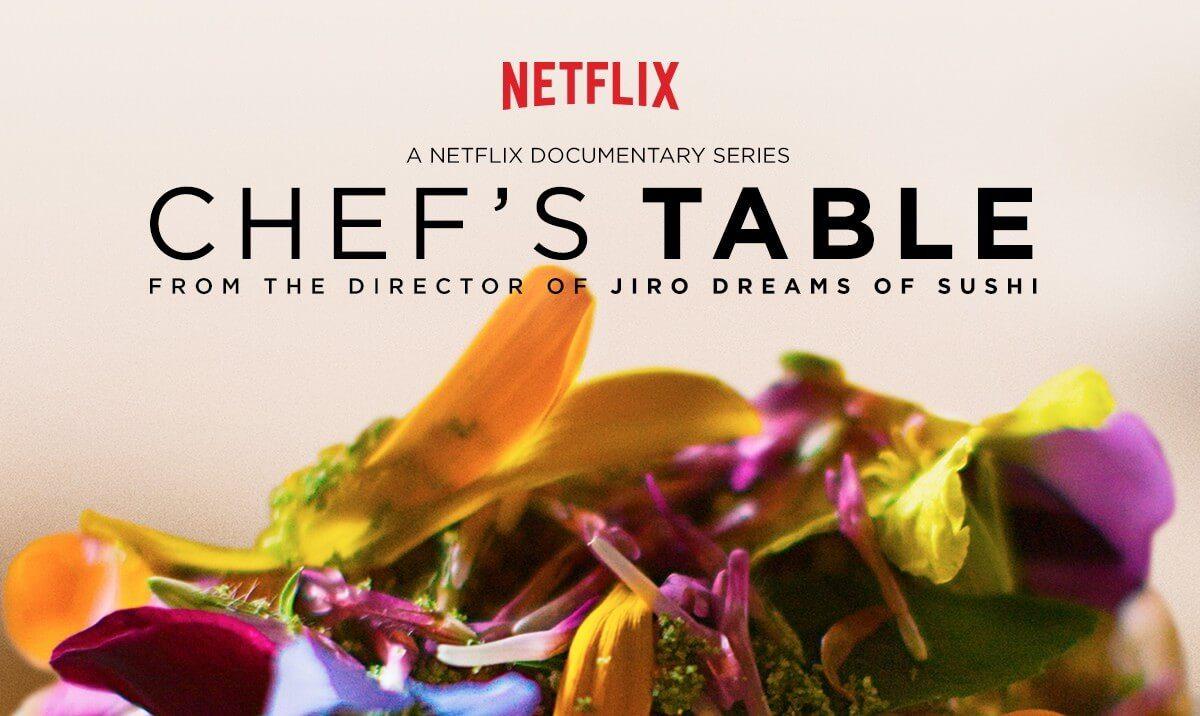 """A série documental da Netflix, """"Chef's Table"""", possui três temporadas e já foi indicado a quatro vezes ao Primetime Emmy Awards"""
