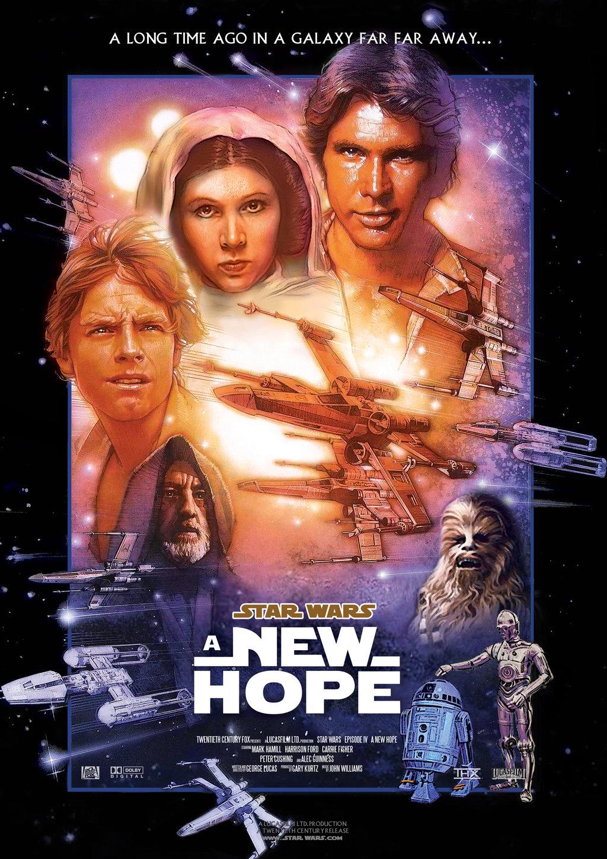 """Pôster de """"Star Wars: Uma Nova Esperança"""""""