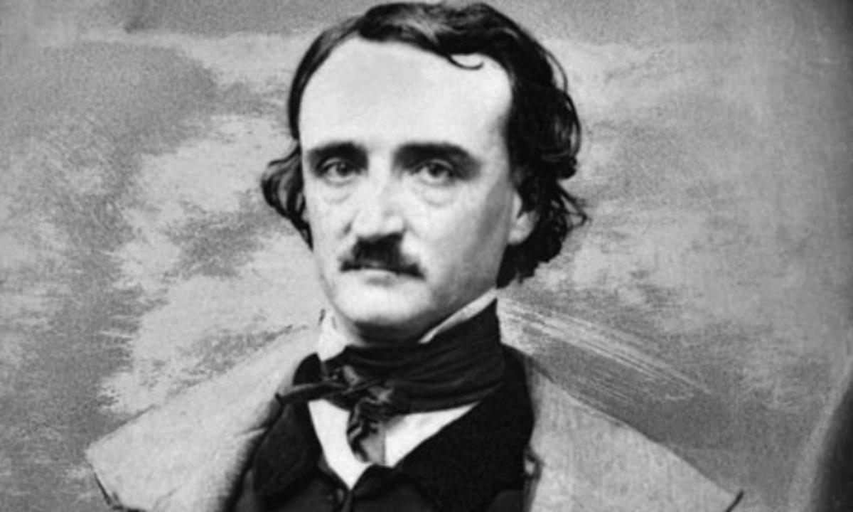 """Edgar Allan Poe, facilmente reconhecível pelo extraordinário poema """"O Corvo"""", foi uma das principais inspirações para o cinema de terror gótico"""