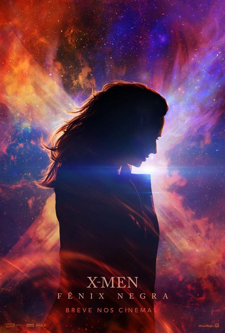 Jean Grey posa diante uma névoa cósmica e um raio de luz que faz um X.