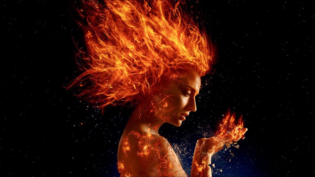 O corpo de Jean Grey pega fogo devido a entidade cósmica Fênix
